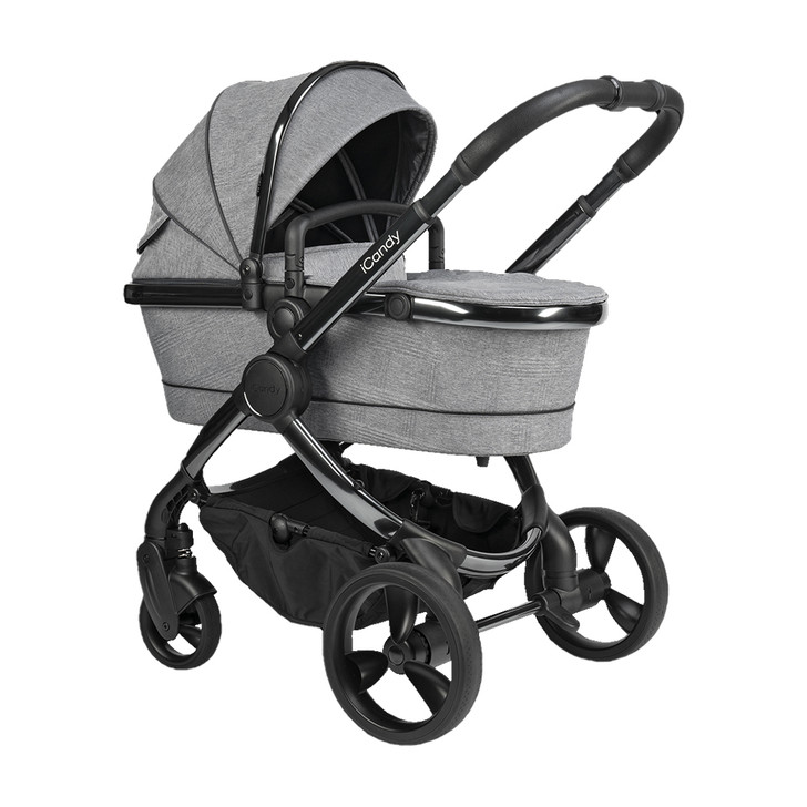 iCandy Peach Pushchair & Carrycot - Phantom Light Grey Check