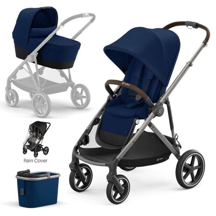 Cybex Gazelle S Pushchair & Carrycot - Taupe Frame - Navy