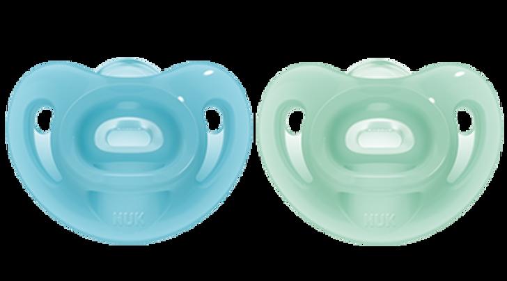 NUK Sensitive Soother - 0-6m - Blue/Green