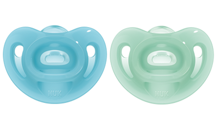 NUK Sensitive Soother - 6-18m - Blue/Green