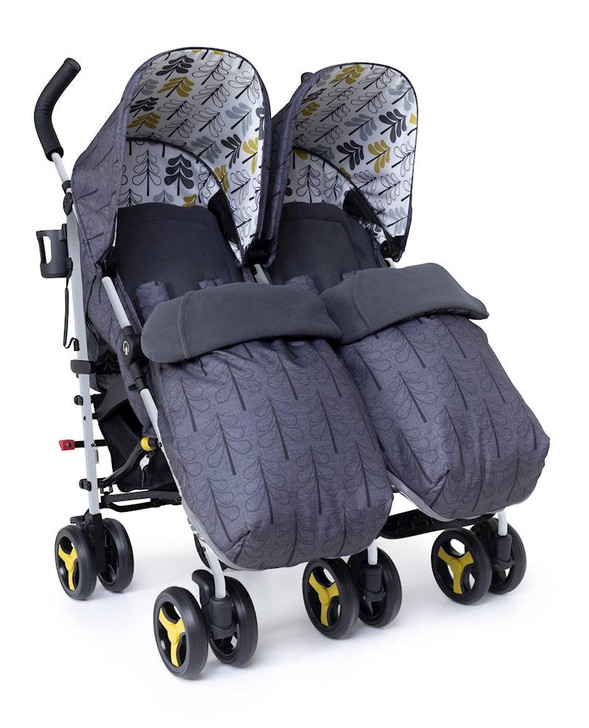 Cosatto Supa Dupa Twin Stroller - Fika Forest