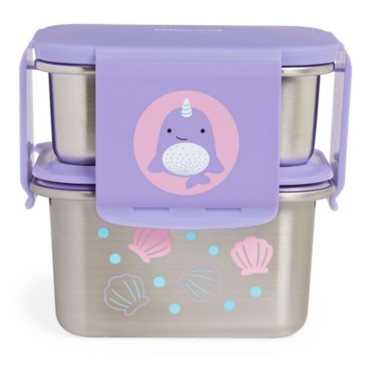 Skip Hop Stainless Steel Lunch Kit - Narwhal
