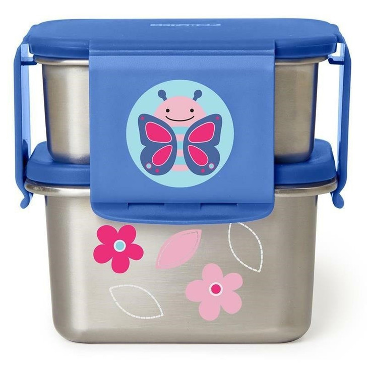 Skip Hop Stainless Steel Lunch Kit - Butterfly