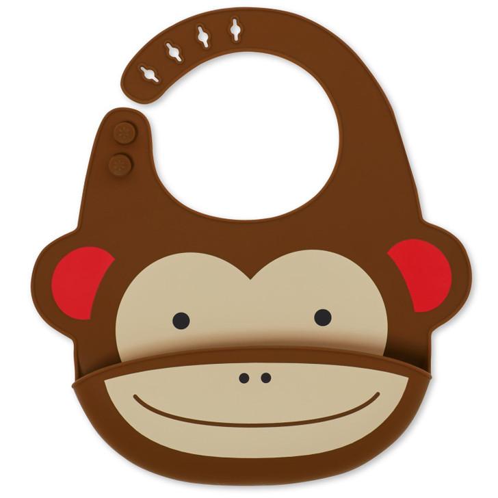 Skip Hop Fold & Go Silicone Bib - Monkey