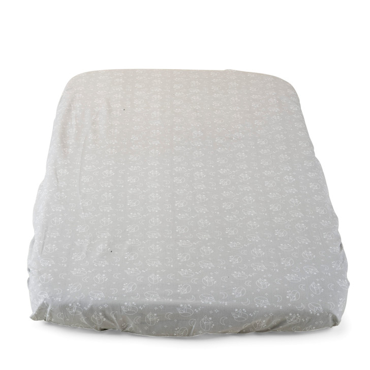 Chicco Crib Fitted Sheets 2 Pack - Grey Fox