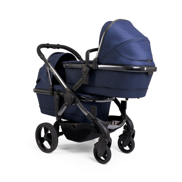 iCandy Peach Twin Pushchair - Phantom/Navy Twill