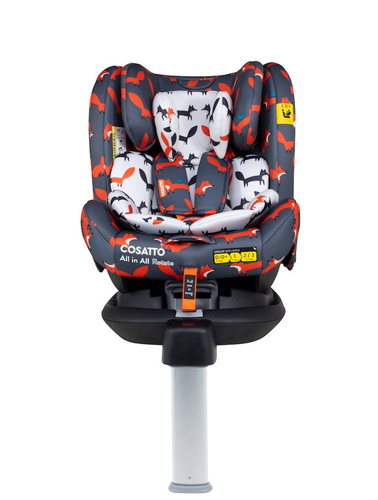 Cosatto All In All Isofix Rotate Car Seat - Charcoal Mister Fox - Birth - 12 Years