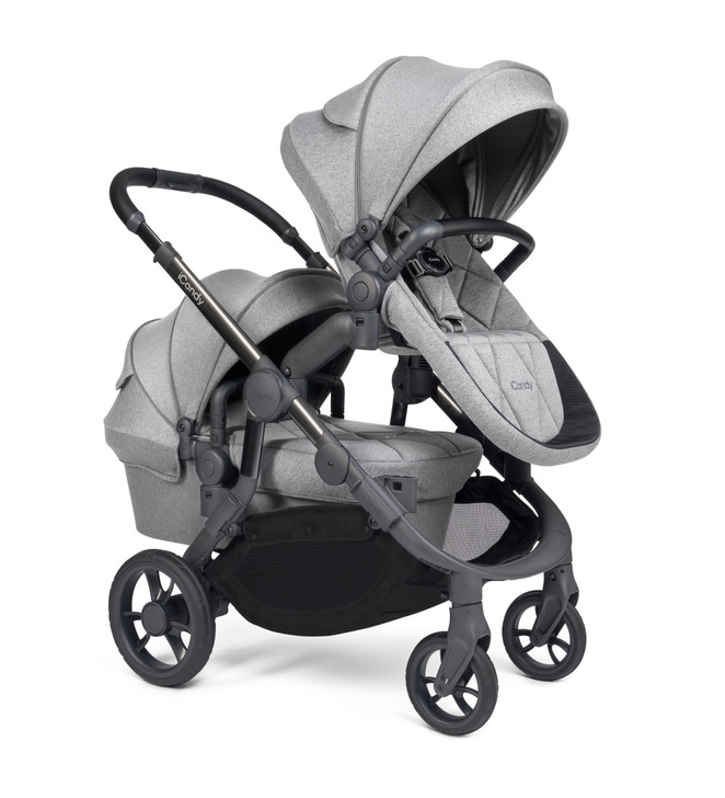 iCandy Orange Double Pushchair - Light Slate (Newborn & Toddler)