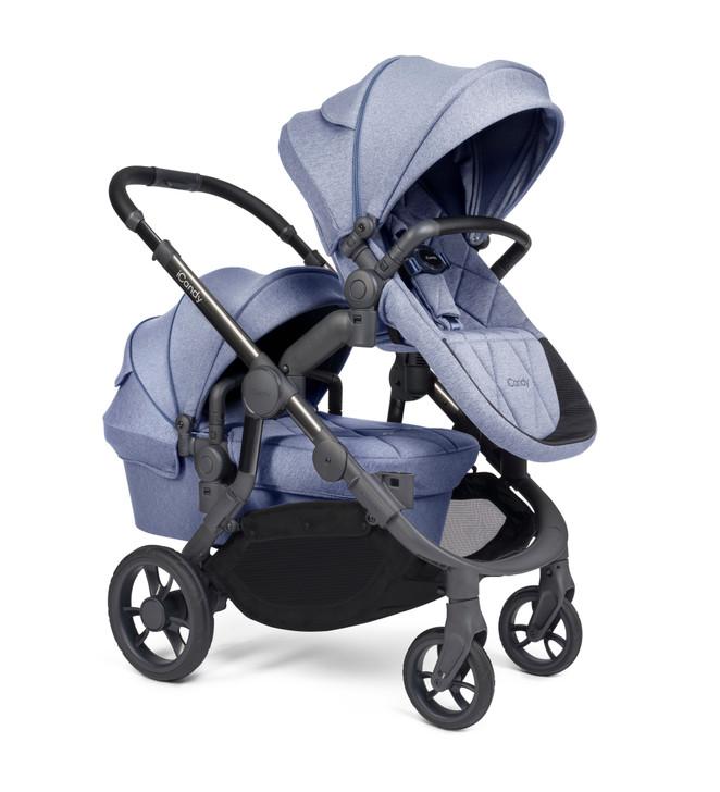 iCandy Orange Double Pushchair - Blue Mist (Newborn & Toddler)