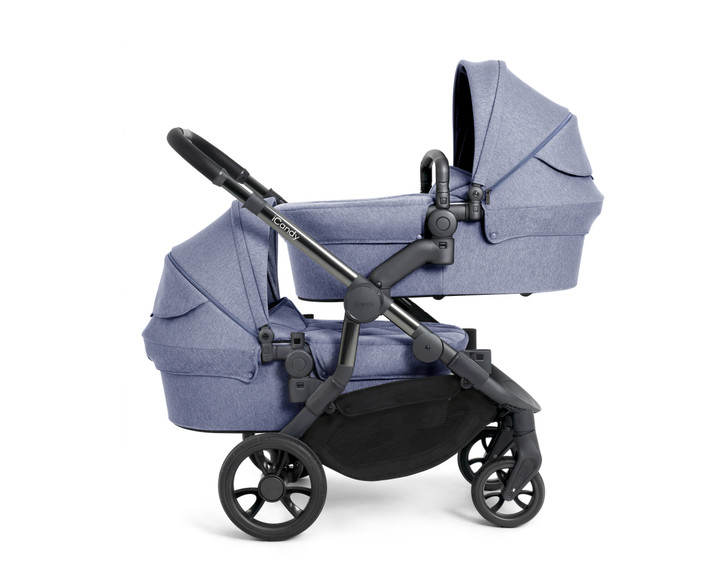 iCandy Orange Twin Pushchair - Blue Mist