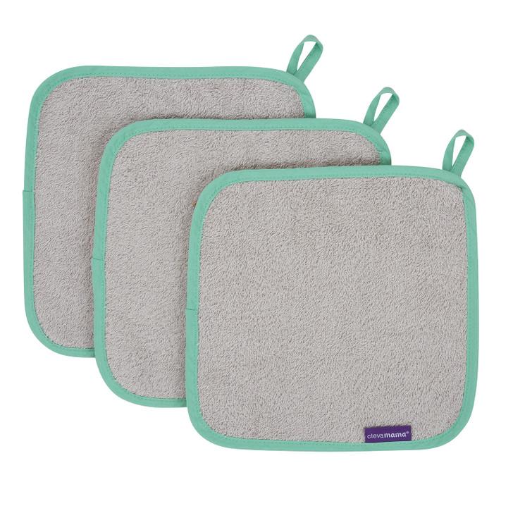 Clevamama Bamboo Baby Washcloth Set - 3 Pack