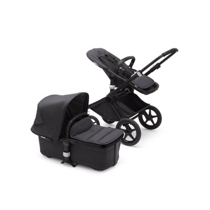 Bugaboo Fox 2 Complete Pushchair - Washed Black/Black