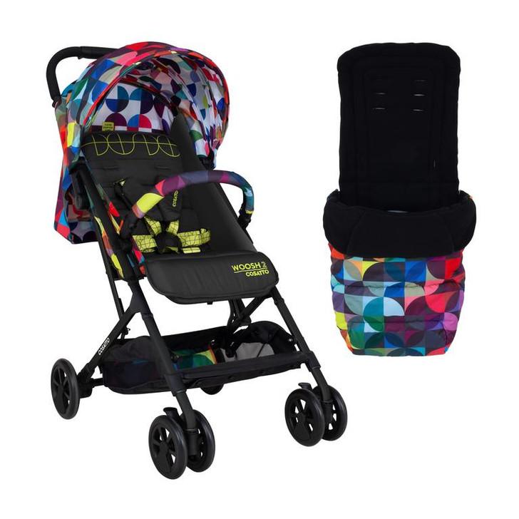 Cosatto Woosh 2 Stroller & Footmuff Bundle - Kaleidoscope