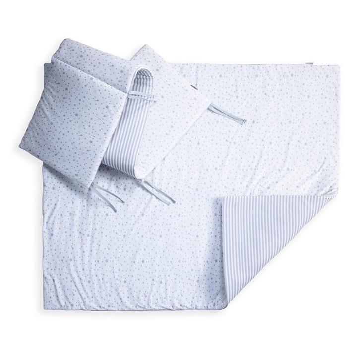 Clair De Lune Stars & Stripes Cot/Cot Bed Quilt & Bumper Bedding Set