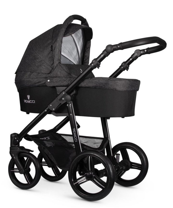 Venicci Soft 2In1 Pram & Pushchair - Denim Black