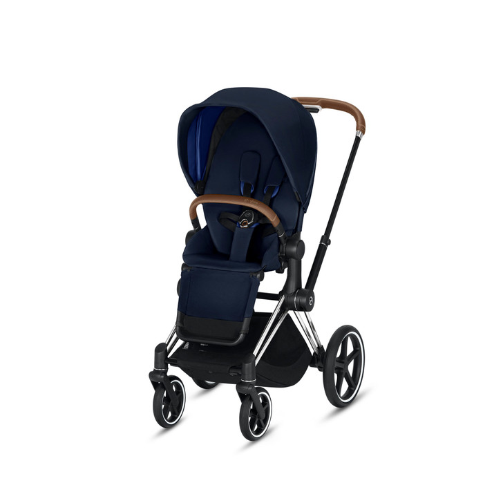 Cybex Priam Pushchair - Chrome Frame With Brown Handle