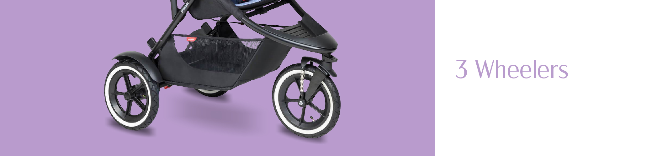 new parents with 3 wheel all terrain pushchair