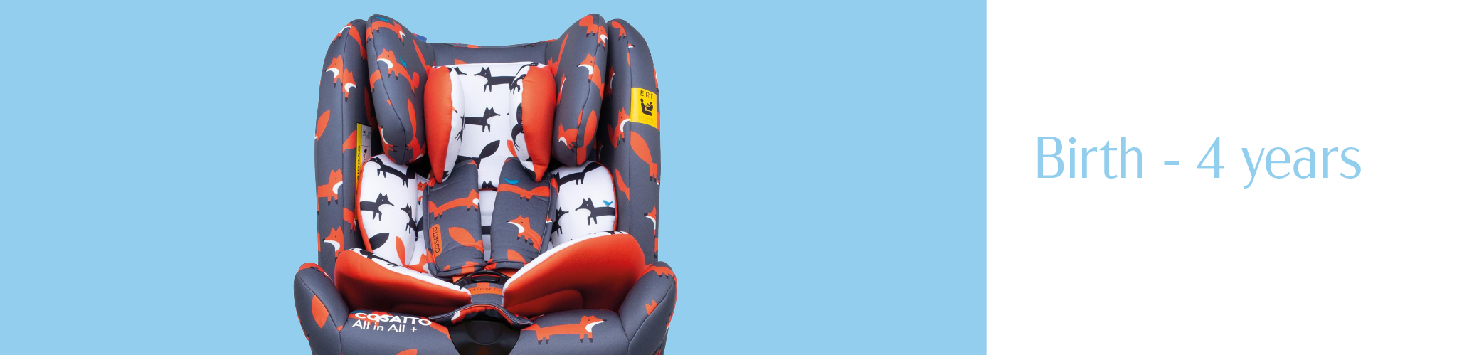 child sitting swivel car seat suitable from birth up to 4 yaers