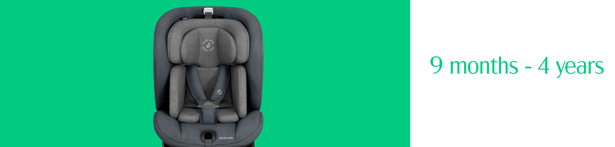 toddler in a grey maxi cosi car seat