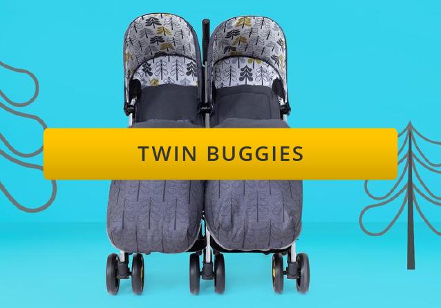 Lightweight twin strollers