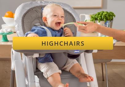 baby feeding in a highchair
