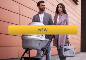 New parents with new venicci pram