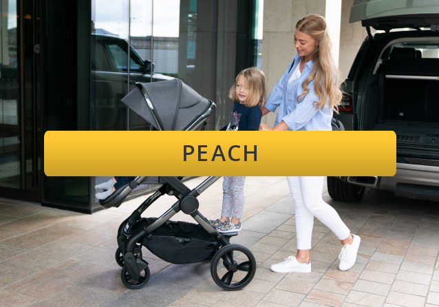 mother with new icandy peach buggy