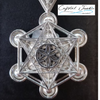 Back side - Specially designed to give a 3D image in 925 silver created by geometric design of Metatron's Cube.