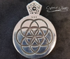 From Crystal Junkie, this Matrix 3D Jewelry Design, 925 silver pendant created for unique pieces of innovative jewelry. This 3D design in pure 925 silver shows the symbol of one of the most Sacred Geometry shape The Seed of Life.