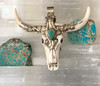 Western Necklace pendant with  genuine turquoise- Protection and healing vibes