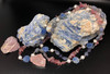 Kyanite , Strawberry Quartz  & Amethyst Necklace -perfect for balance, protection and vitality! 16 inches long