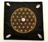 Flower of life Mat Crystal Grid & Crystals ( 2 Quartz, 2 Citrine & 1 Quartz Generator Point !