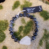 Snowflake obsidian& Quartz Large Bracelet