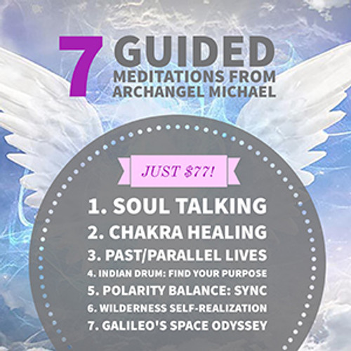"""The best habit you can create is meditation! Let Crystal Junkie Jolie DeMarco lead you through a healing journey with her peaceful meditations channelled from Archangel Michael. It is normal to fall asleep or deeply """"out"""" - just allow it! This healing state brings about total relaxation of the body & mind."""