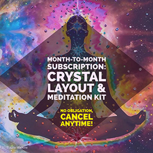 One Month Subscription: Crystal Layout + Meditation Kit