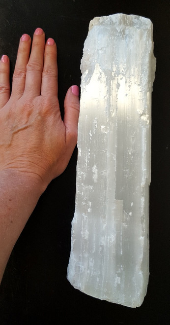 Selenite Bar- Great for grids or clearing stones. Selenite helps you create your inner knowing, connect to your soul, be trusting and open to new ideas, release negative thought patterns, and feel lighter. It helps ease chronic pains, fatigue and skeletal/skin disorders. Overall, Selenite is a winning mineral. It adjusts and cleanses you, instills peace, and is great for spiritual work and meditations. Copyright © DeMarco,J. (2019) High Vibes Crystal Healing. Florida: Llewellyn Publishing  Crystal is chosen, spiritually cleansed and packaged with an abundance of gratitude and high vibe positive energy.