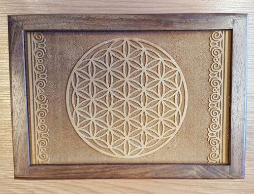 Wooden Flower of Life Box