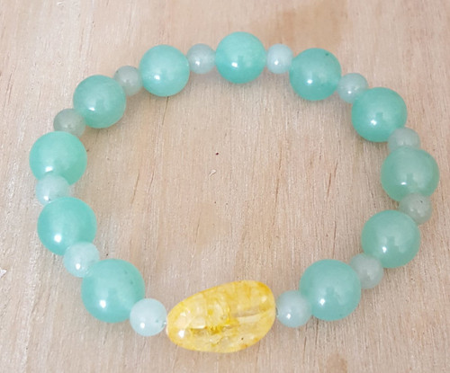 Attract Money & Abundance( Citrine & Aventurine) Beads Bracelet