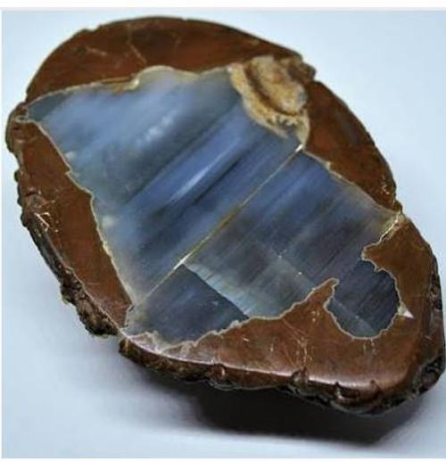 Thunder Agate  Half Geode
