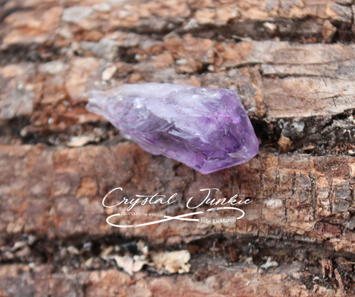 h Amethyst. It relaxes all of you. The words to describe Amethyst are homey, loving, protective, calming, and super Zen. The world famous purple crystal (part of the Quartz family) encourages spiritual awakenings, gives insight, helps alleviate sadness / grief, and quiets the mind. In meditation, Amethyst can be placed on the body or in the aura for healing. Ultimately, Amethyst relaxes the body and mind together. Copyright © DeMarco,J. (2019) High Vibes Crystal Healing. Florida: Llewellyn Publishing Stone is chosen, spiritually cleansed and packaged with an abundance of gratitude and high vibe positive energy.
