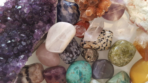 GAIN INSIGHT BY A PERSONAL ROCK & GEMSTONE READING. You might be thinking… How in the heck can someone read you with Rocks?  Well, actually it is amazing.  The Reader can dynamically feel the energy of each gemstone or crystal and match it to what your body  needs or needs for adjustments. They are used for assisting in a self-healing, but also as tools, markers  for  a reader to understand what is going on in your  life. It's not only fun, but amazing for insights of your life! Insight such as what  is needed for you to balance, release and or advance:) I know it sounds incredible– now just do one! See for yourself how cool it is to get a Gemstone/Rock Reading! (video interview where Jolie DeMarco gives a Rock Reading to the host) Personalized for you! No cookie cutter stuff.  This is the Real Deal. Receive a personal Rock reading – this is specially for you from Jolie DeMarco.    The rock reading is a short video of the rocks chosen to give you insight on your life. Jolie interprets the energy of the crystals and gemstones as she connects to your energy from you name and essence. She  sends you a short video of this Rock reading to your cell phone via text. It's fun and insightful!  You actually get to see the crystals chosen for you and why!