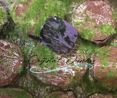 Charoite is a fantastic purple stone. When I first laid eyes on this wonder of creation. I couldn't believe that nature had made such a gorgeous formation. Charoite helps one cope with profound changes in life and overcome resistance; it brings quiet refreshing energies, facilitates decision making, and calms the nerves and heart. This is a good stone for relieving cramps. Additionally, Charoite can ward off negative dreams and give protection in all realms of existence to the holder. Copyright © DeMarco,J. (2019) High Vibes Crystal Healing. Florida: Llewellyn Publishing