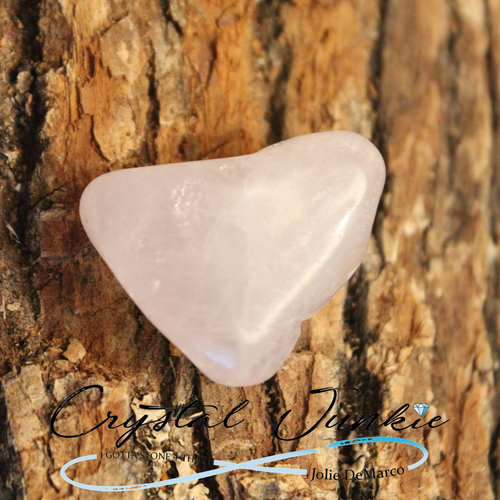 Rose quartz ranges from dark to light pink; it's called both rose quartz and pink quartz. It is used to enhance unconditional love and protection. This is a well known crystal. It is universal in projecting positive energy and great for a housewarming gift. Holding one fortifies or deepens existing love. It is perfect for self acceptance and creating peace and love for self and others. It encourages strength, hope, and positive relationships. It is a perfect stone to give to your mother or to hold if you are one; it helps you with patience and compassion. Copyright © DeMarco,J. (2019) High Vibes Crystal Healing. Florida: Llewellyn Publishing