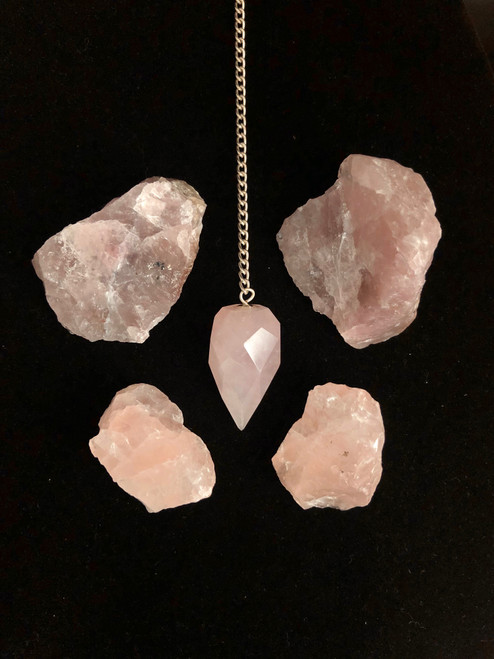 Rose Quartz pendulum- perfect for Asking questions & Checking your Auras and Chakras
