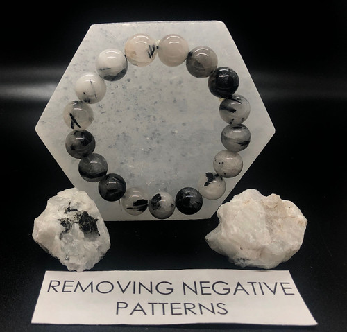 Rutile quartz Bracelet- One size fits all  Helps release old patterns and reset patterns
