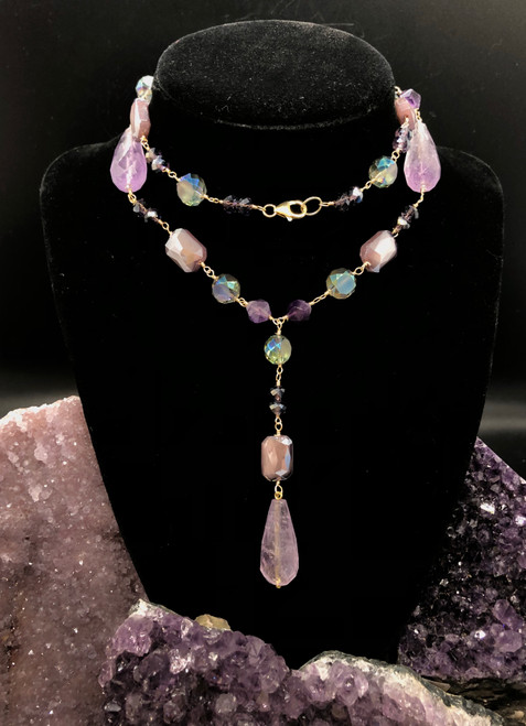 Amethyst Necklace 16 inches long, perfect for all!