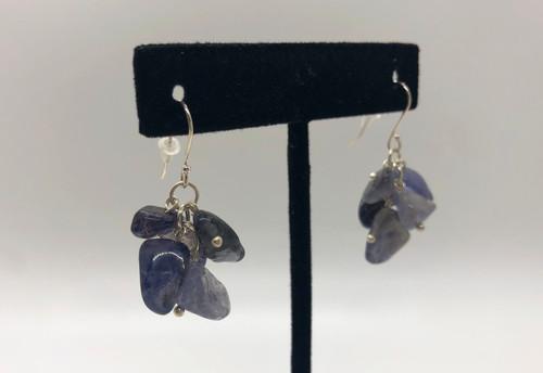 iolite cluster earrings