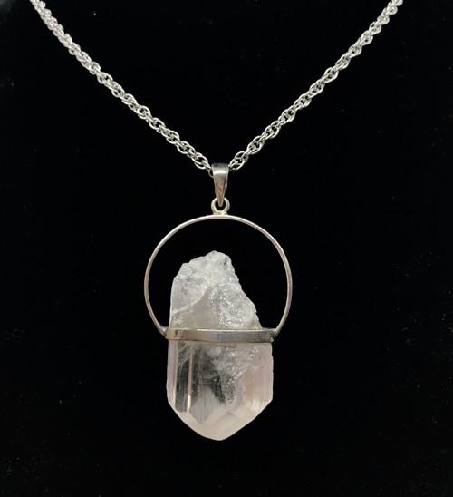 Danburite Pendant Necklace 925 real silver