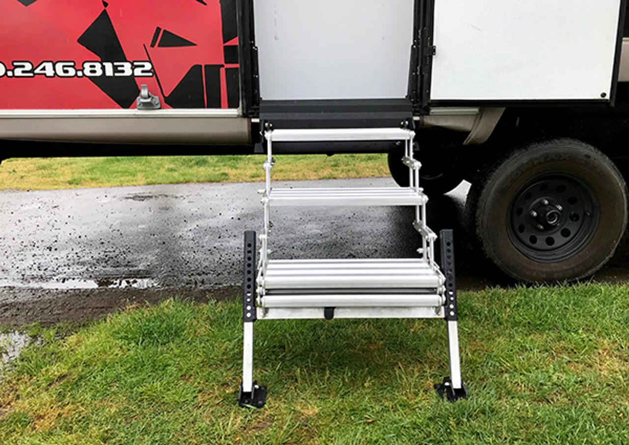 """TORKLIFT A9103 Glow Step Uprising 61cm 3 Step Fold Out Step System 61cm or 24."""" wide"""