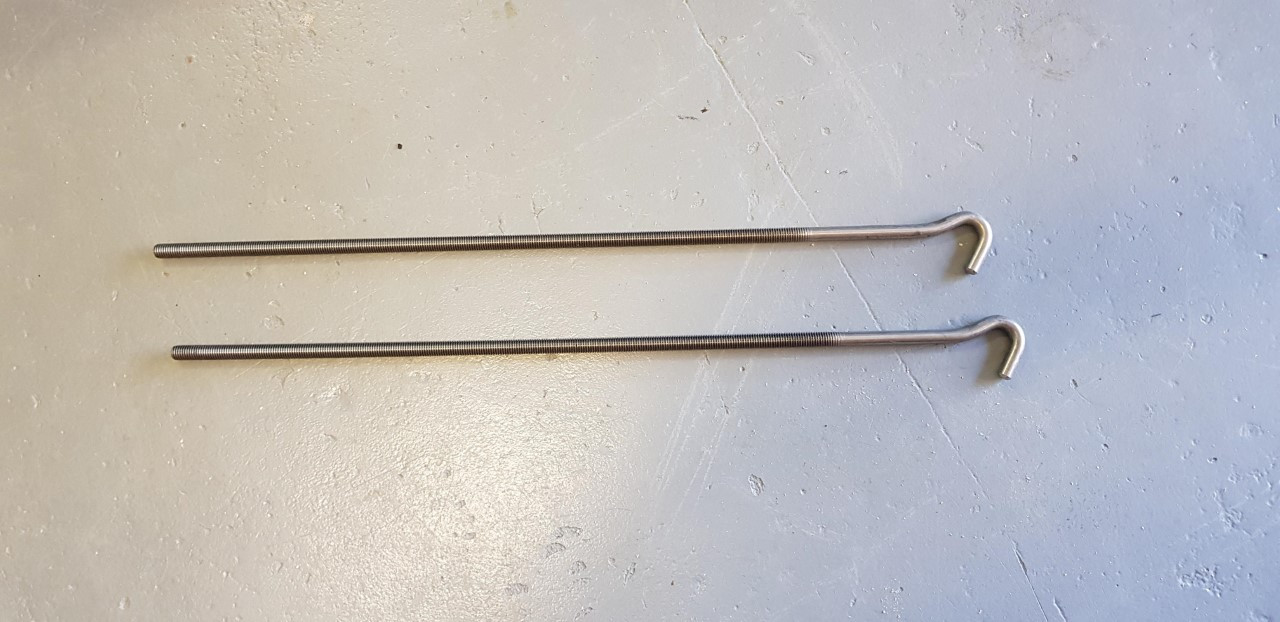 Torklift Threaded Hook for Fastguns and Anchorguard Turnbuckles - Set of two.